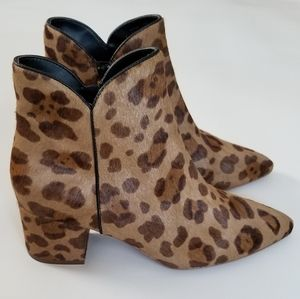 Cole Haan Elyse Ocelot print Ankle Boots